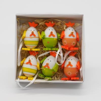 Mini tojástyúkok 6 db citrom-narancs-zöld