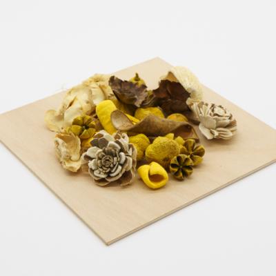 Szárazvirág dekoráció natúr-barna-sárga