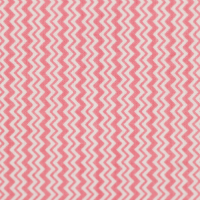 Pamutvászon rózsaszín fehér cikkcakk mintás