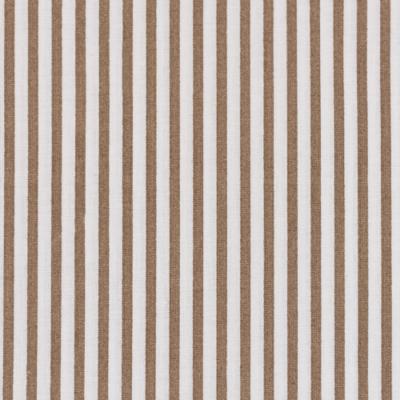 Pamutvászon drapp fehér csíkos 3 mm széles csíkokkal