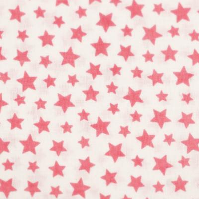 Pamutvászon rózsaszín alapon csillagos