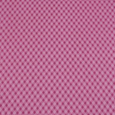 Pamutvászon apró rombuszos kockás rózsaszín