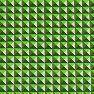 Pamutvászon háromszögek zöld árnyalatban