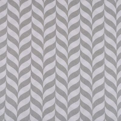 Pamutvászon szürke fehér geometrikus levélminta