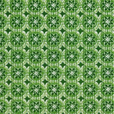 Pamutvászon körmintás virágos zöld
