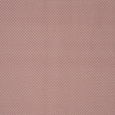 Pamutvászon rózsaszín alapon fehér pöttyös