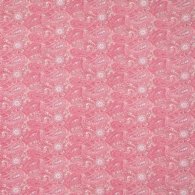 Pamutvászon kasmír mintás rózsaszín