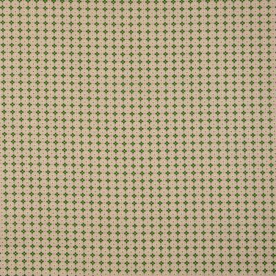 Pamutvászon pöttyök keresztek drapp - zöld