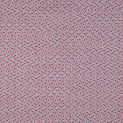 Pamutvászon dohánylevelek szürke alapon rózsaszín