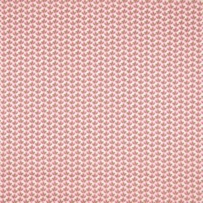 Pamutvászon dohánylevelek halvány rózsaszín alapon rüzsaszín-zöld