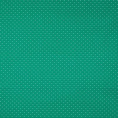Pamutvászon pöttyök, körívek zöld