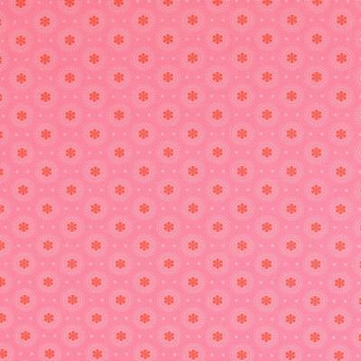 Pamutvászon kör-virág rózsaszín