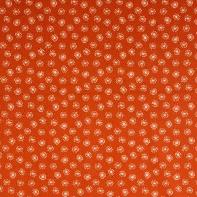Pamutvászon apró pitypang narancs