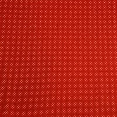 Pamutvászon karácsonyi arany tűpöttyös piros alapon