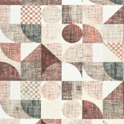 Lonetta vászon barnás geometrikus nagy minta