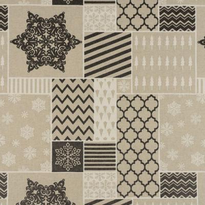 Lonetta vászon karácsonyi patchwork szürke