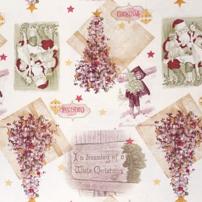 Lonetta vászon karácsonyi antik képek fehér