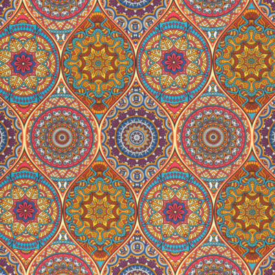 Lonetta vászon mandala sűrű tarka-barka