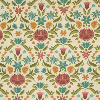 Lonetta vászon népi virág motívum