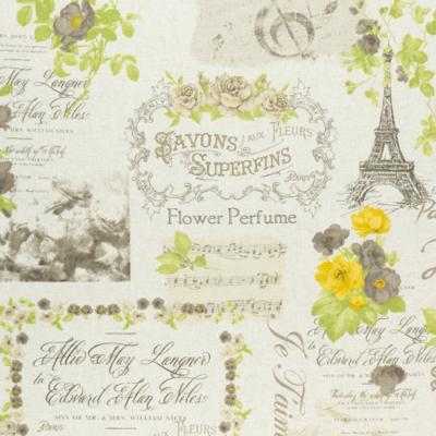 Lonetta vászon Párizs vintage sárgás natúr