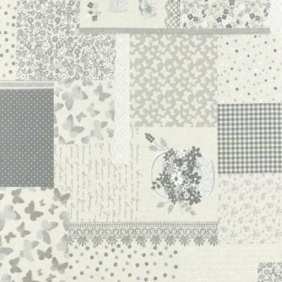 Lonetta vászon patchwork vintage szürke