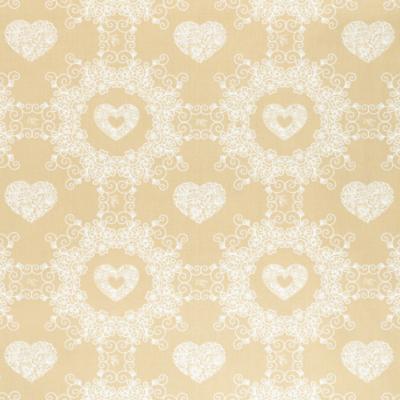 Pamutvászon szíves minta sűrű fehér-natúr