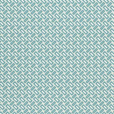 Lonetta vászon türkiz-natúr geometrikus téglák